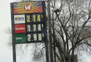 Recent gas prices in Colorado Springs were among the nation's lowest in decades.